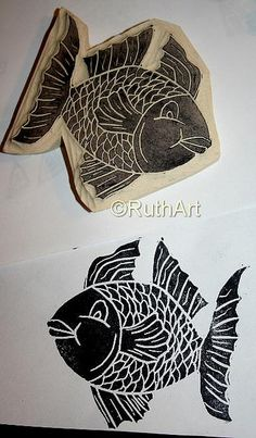 Another computer drawing now becomes a stamp Eraser Stamp, Computer Drawing, Tea Bag Art, Linoleum Block Printing, Drawing Now, Stamp Carving, Handmade Stamps, Batik Prints, Print Ideas