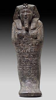 Shawabti of King Senkamanisken Serpentinite, Nuri, Pyramid 3 (Tomb of Senkamanisken) 640–620 BC (Napatan Period)