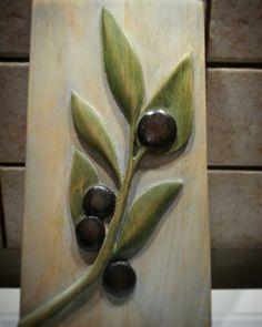 Woodcarving  Ahşap oyma Zeytin dalı