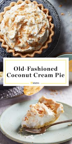 Martha Stewart, Dried Beans, Toasted Coconut, Old Fashioned Coconut Cream Pie Recipe, Coconut Cream Pies, Pecan Cream Pie Recipe, Coconut Oil, Pie Recipes, Baking Recipes