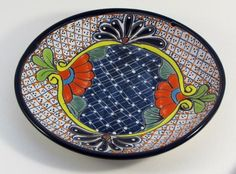Handmade Mexican Talavera Dinner Plate in Multicolor 11in Diameter & Handmade Mexican Talavera Dinner Plate in Multicolor 11in Diameter ...