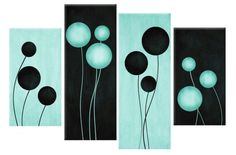 The beauty of Oodtk Mekmlsh only Tablohat from Tablouh Available at Tableau at a masterpiece price M… Multi Canvas Painting, Diy Painting, Canvas Art, Black Abstract, Abstract Wall Art, Canvas Pictures, Art Pictures, Circle Art, Wall Drawing