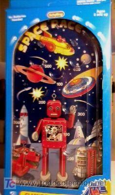 SPACE RACE ROBOT Pinball game TIN Toy. NEW Schylling. Nuevo sin abrir. Hoja de lata. Med. 13x26 cm.