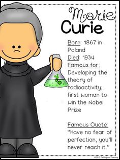 Famous women in history marie curie 50 Ideas for 2019 Social Studies Curriculum, Social Studies Notebook, History Classroom, History Education, History Teachers, Teaching History, Marie Curie For Kids, Reading Tree, Fun Activities To Do