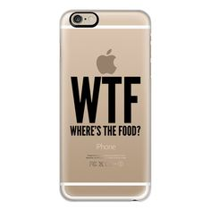 iPhone 6 Plus/6/5/5s/5c Case - WTF - Where's The Food? ($40) ❤ liked on Polyvore featuring accessories, tech accessories, iphone case, iphone cover case, slim iphone case and apple iphone cases
