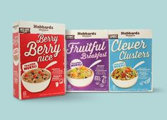 Hubbards Originals Muesli Range on Packaging of the World - Creative Package Design Gallery