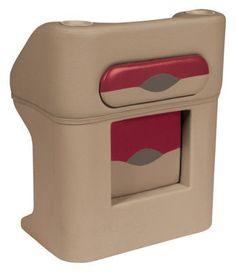 Wise Premier Series Pontoon Furniture -  Steering Console - Mocha Java/MJ Punch/Dark Red/Rk Salt