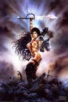 Fantasy Art Women Warriors   She stood tall in the battlefield.  She was the bringer of death and the Protectress