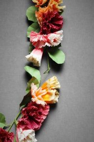 Papered posey ceremony garland