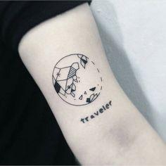 #tattoo #armtattoo #blackandwhitetattoo #traveltattoo #earthtattoo #smalltattoo