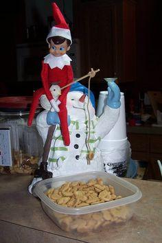 Elf on the shelf fishing!