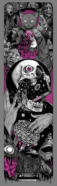 'Visual Horror Sequences' Poster By Alexandros Pyromallis http://www.inkrituals.com/