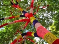 I'm in love with yarn bombing. It's completely temporary graffiti and it can be so beautiful!