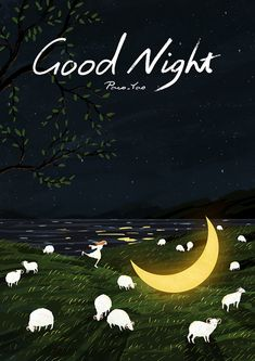 Children illustration night sweets Ideas for 2019 Good Night Image, Good Morning Good Night, Good Night Quotes, Sweet Night, Good Night Sweet Dreams, Love Wallpapers Romantic, Night Illustration, Good Night Greetings, Animated Icons