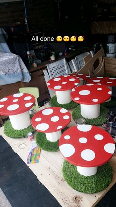 Cable reel tables EYFS Early years outdoor provision Enhancements