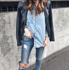 classy-lovely:   Jacket  Blouse  Ripped... A Fashion Tumblr full of Street Wear, Models, Trends & the lates