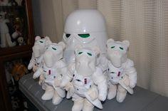 Snow troopers of teddy bear.