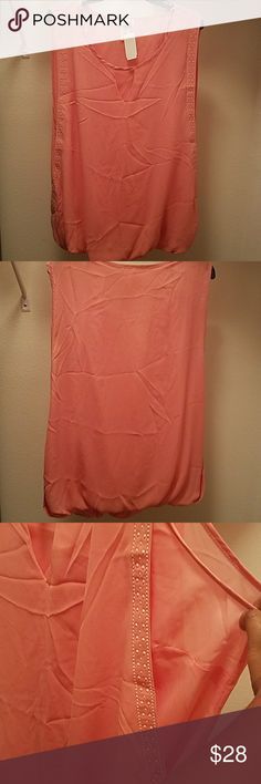 Rose colored blouse Never before worn rose colored blouse. Nice, sheer, and light   *smoke free and pet friendly home Tops Blouses
