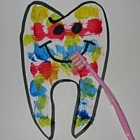 Toothbrush Painting! This is a great activity for your child to practice the correct brushing movements (up and down, back and forth, circular) while painting their tooth with an old toothbrush! Make sure you send us a picture of your toothbrush painting!  Email to: egjmarketing@gmail.com