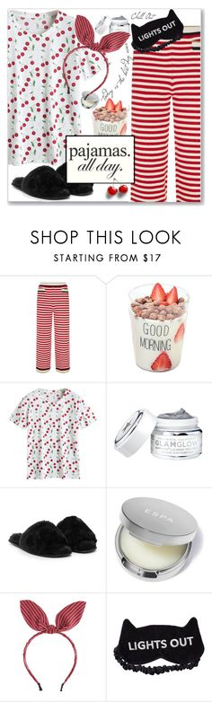 """PJs All Day: Lovely Loungewear"" by jecakns ❤ liked on Polyvore featuring Gucci, Nasty Gal, PBteen, casual, relax, top, slippers and LovelyLoungewear"