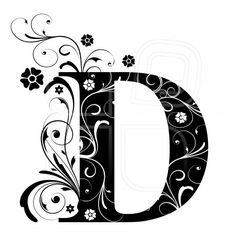 Letter D, alphabet, arabic, art