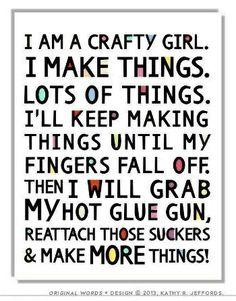 I am very crafty!