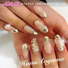 ホログラムフレンチは輝き抜群!!Instagramもcheckお願いします♥hana.aoyama ネイルデザインを探すならネイル数No.1のネイルブック