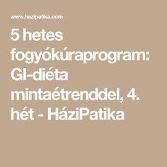 5 hetes fogyókúraprogram: GI-diéta mintaétrenddel, 4. hét - HáziPatika Diabetic Recipes, Diet Recipes, Gin, Diabetes, Food And Drink, Health Fitness, Math Equations, Drinks, Style