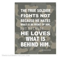 Military Quote Inspirational Typography GK by theartofobservation, $12.00