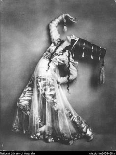 Anna Pavlova in costume for Syrian Dance (1918-20)~Image courtesy National Library of Australia.