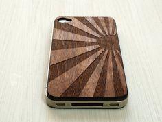 Japanese Sunrise Etching on Wood iPhone 4 Cover. $20.00, via Etsy.