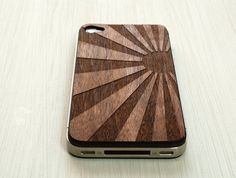 Awesome iPhone decal - Japanese Sunrise Etching on Wood iPhone 4 by grandmaswoodentooth, $20.00