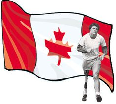 Terry Fox - Canadian humanitarian, athlete, and cancer research activist. Largest Countries, Cool Countries, Countries Of The World, Canadian Things, I Am Canadian, Canadian Culture, School Murals, Canada Eh, Sea To Shining Sea
