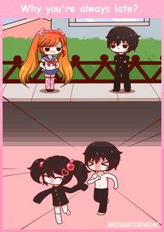 Yandere Comic - Why You're always late? by DancerQuartz on DeviantArt