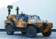 Turkish Otokar Cobra2 4x4 wheeled armored combat vehicle apc IFV Turkish Military, Turkish Army, Army Vehicles, Armored Vehicles, Moab Jeep, Armored Truck, Tank Armor, Terrain Vehicle, Bug Out Vehicle