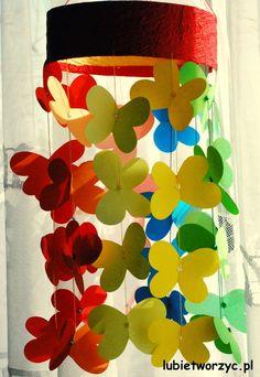 Lubię Tworzyć: Girlanda z papierowych motyli