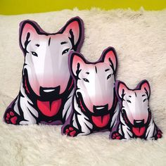 Decorative Dog Cushion pillow Bull Terrier White by PSIAKREW