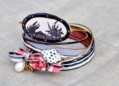 Handcrafted Jewelry  Enamel Bangle Set  by bullfinchbarbury