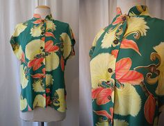 Amazing 1950's Hawaiian Togs Tea Timer rayon print by wearitagain, $148.00