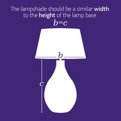 How To Calculate The Correct Lamp Shade Size Based On The