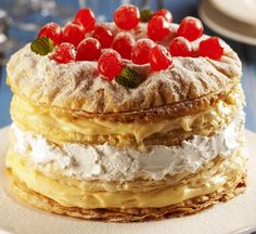 Millefeuille with condensed milk cream