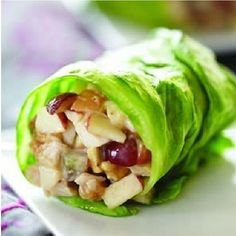 Summer wraps: 1/2 cup chopped chicken, 3 tbsp Fuji apples chopped, 2 tbsp red grapes chopped, 2 tsp honey, 2 tbsp almond butter. Mix and wrap in a romaine lettuce leaf . From www.myhealthydish.com Alternative: Can add 1 tbsp Paleo mayo for a creamer moistness.
