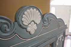 The Black Sheep Shoppe: Shabby Sweet China Cabinet. Painted in Duck Egg Blue and Old White (Annie Sloan Chalk Paint)