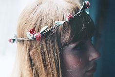 You are never too old for hair wreaths of flowers. :D