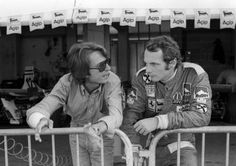 Niki Lauda et Luca di Montezemolo 1975
