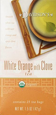 Davidson's Tea White Orange with Clove, Tea Bags (Pack Of * To view further for this item, visit the image link. (This is an affiliate link) Clove Tea, Gourmet Recipes, Tea Time, Tart, Orange, Fruit, Image Link, Food, Pie