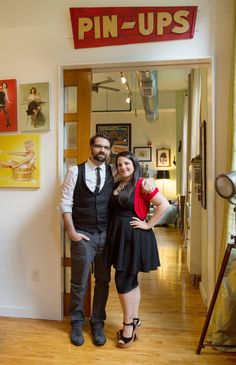 Celeste & David's Modern Pin-up Pad House Tour