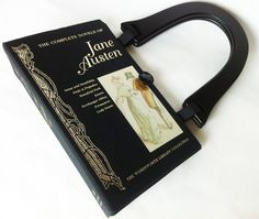 Complete Jane Austen Recycled Book Purse - Jane Austen Collector Gift - Pride and Prejudice Book Purse