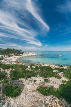 Beautiful wild beach and sea, in Sithonia, Chalkidiki, Greece. .by Dejan Ristovski