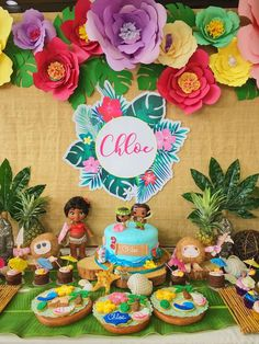 Zyra O's Birthday / Moana - Photo Gallery at Catch My Party 5th Birthday Party Ideas, Moana Birthday Party, Hawaiian Birthday, Luau Birthday, Luau Party, First Birthday Parties, First Birthdays, Party Themes, Moana Party